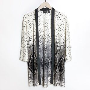 Chico's Foiled Peacock Jacket